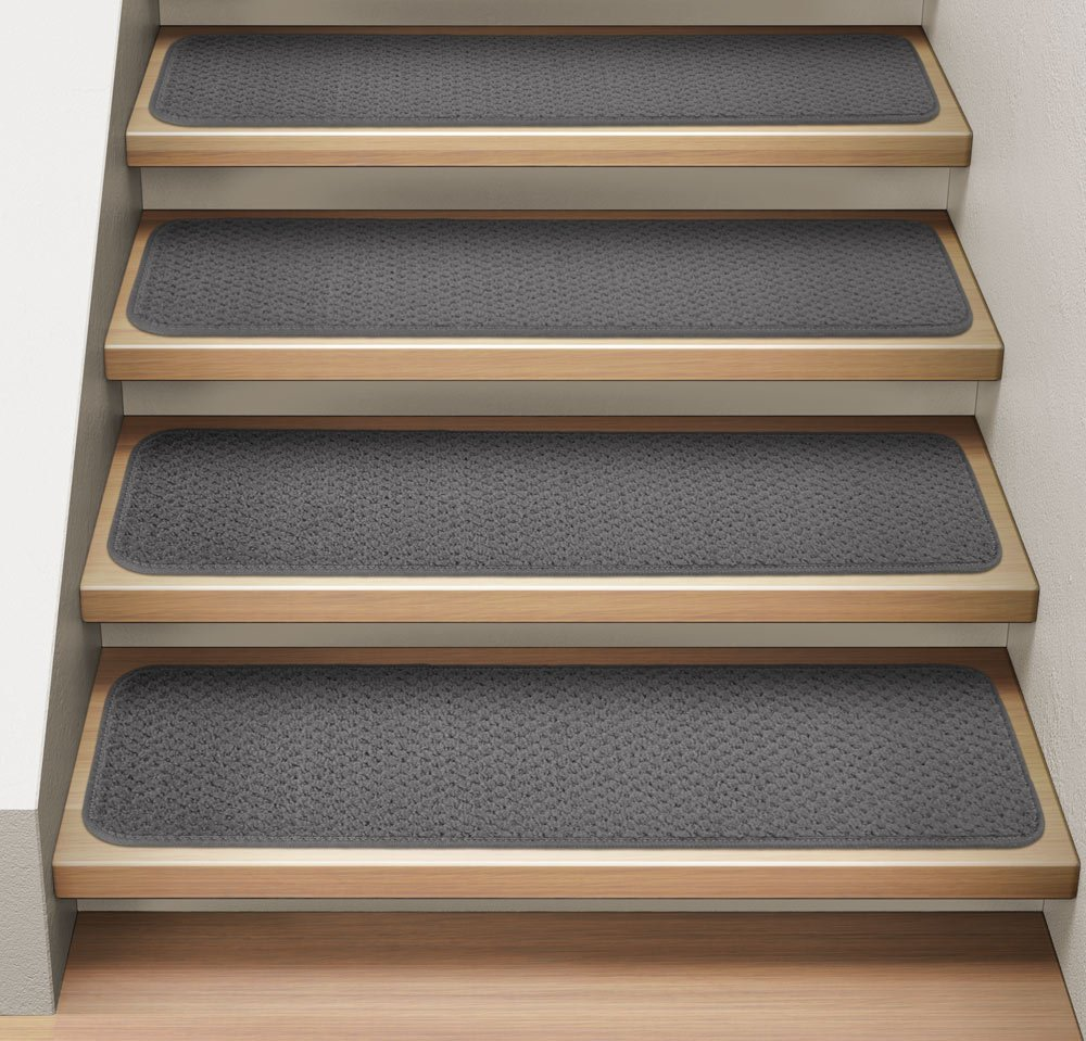 Amazon.com: Set Of 12 Attachable Indoor Carpet Stair Treads   Gray   8 In.  X 30 In.   Several Other Sizes To Choose From: Home U0026 Kitchen