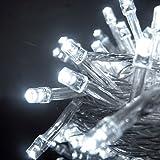 LED Garland,Pershoo 220V 50 Metri 500 della decorazione della stringa LED colorati di luce festa di nozze di Natale, 8 modalità di funzionamento, Oscurabile, IP44 impermeabile, presa UE