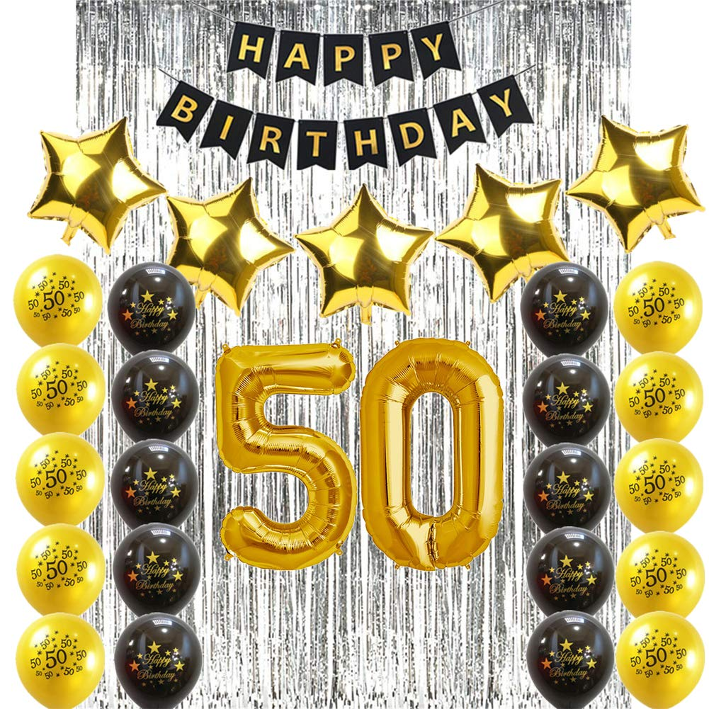 Sunarrive Decoracion Fiesta 50 Cumpleaños para Mujer Hombre ...