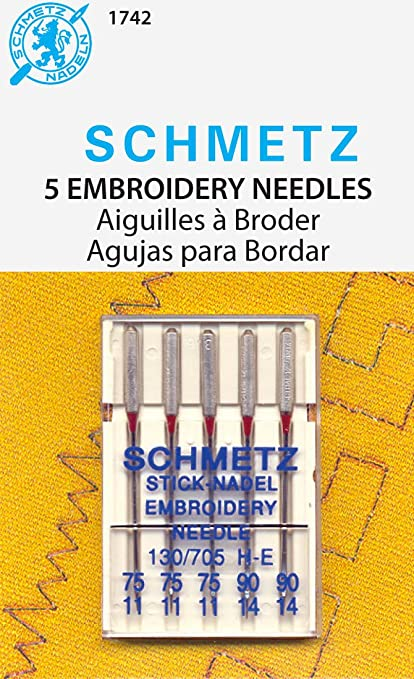 Brother SAEMB 20-Piece 75//11 and 90//14 Machine Embroidery Needles 15x1ST