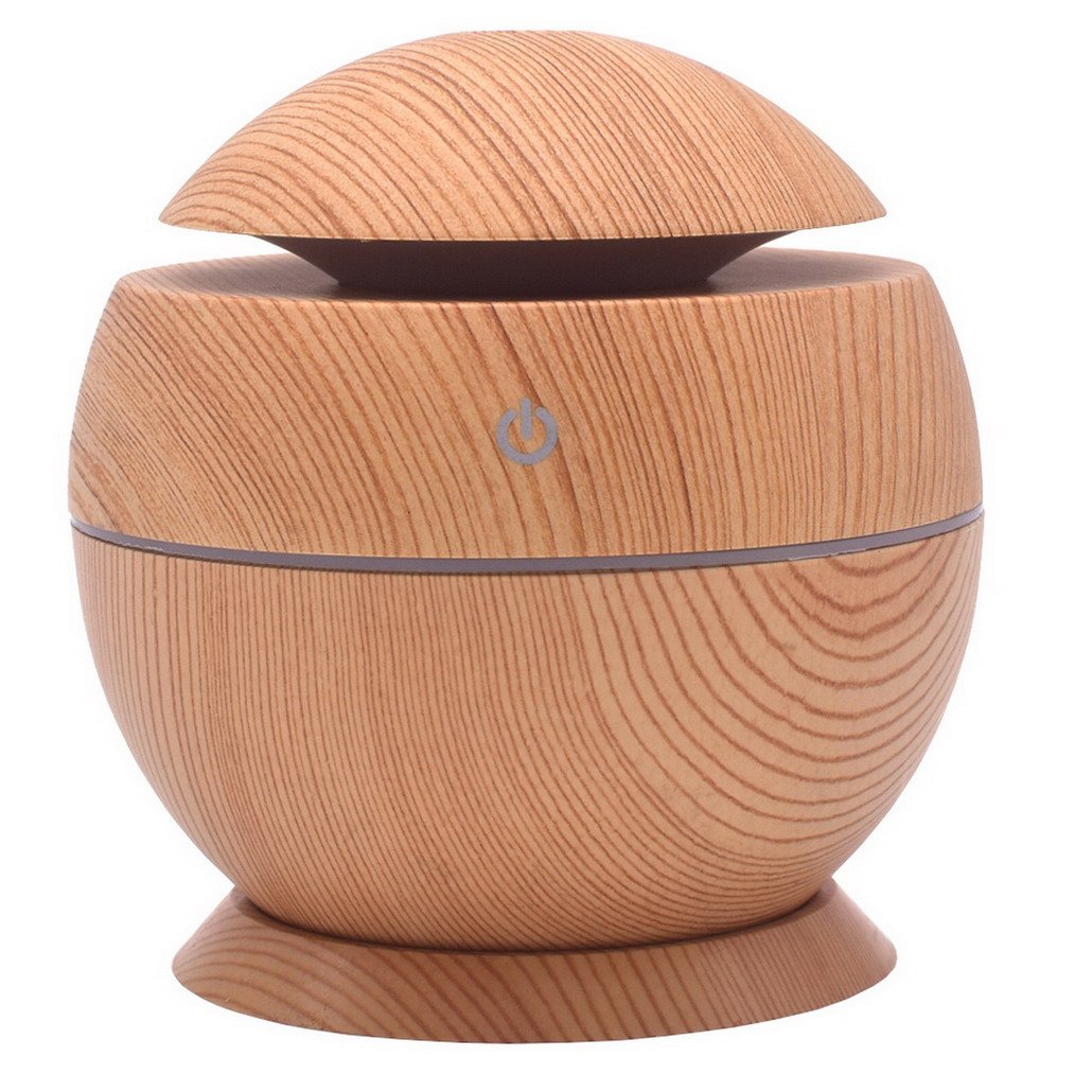 Wood Grain Essential Oil Diffuser Cool Mist Humidifier Ultrasonic Aroma for Office Home Bedroom Living Room Study Yoga Spa