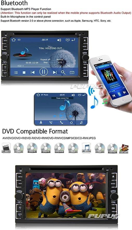 EINCAR Receptor de Radio Coches Reproductor de DVD SD
