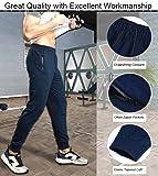 TBMPOY Men's Casual Cotton Jogger Pants Elastic