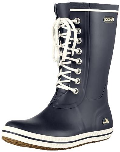 Viking Retro Light Schwarz, Damen Gummistiefel, Größe EU 42 - Farbe Black Damen Gummistiefel, Black, Größe 42 - Schwarz