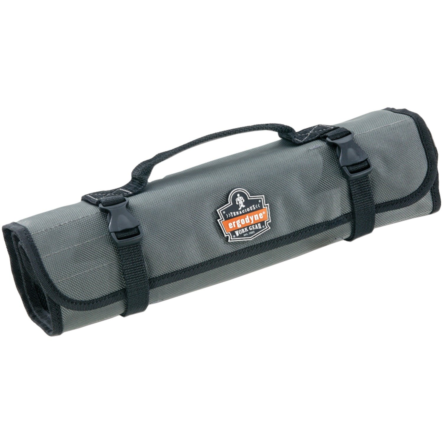 Arsenal 5870 Tool Roll-Up Pouch, 25-Pockets, Polyester, Gray by Ergodyne (Image #1)