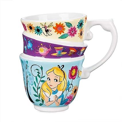 Mug moulé Alice au pays des merveilles avec trois tasses à thé empilées.:  Amazon.fr: Cuisine & MaisonAmazon