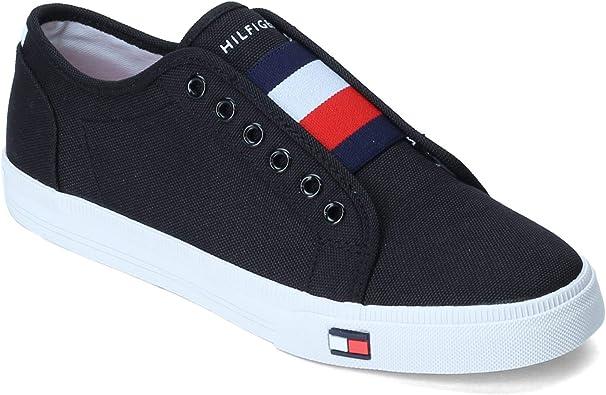 Tommy Hilfiger Zapatillas De Moda Para Mujer Negro 5 5 Shoes