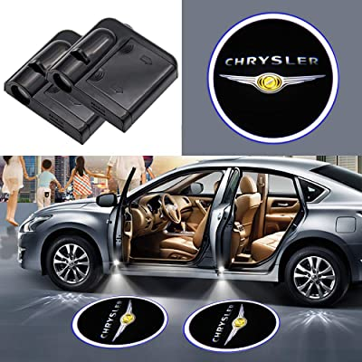 2Pcs Car Door Welcome Light Wireless LED Ghost Shadow Projector Logo Light Car Door Courtesy Light Lamp Suitable For Chrysler All Models (for chrysler): Automotive