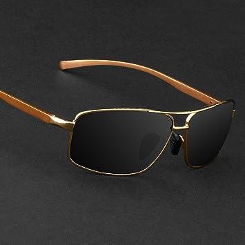 LMB Hombres Gafas de Sol Polarizadas de Aluminio Gafas de Sol de Magnesio Hipster Rana Espejo Conductor Espejo Espejo de Conducción,Segundo,Todo el código: ...