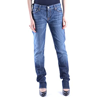 7 For All Mankind Femme MCBI004024O Bleu Coton Jeans