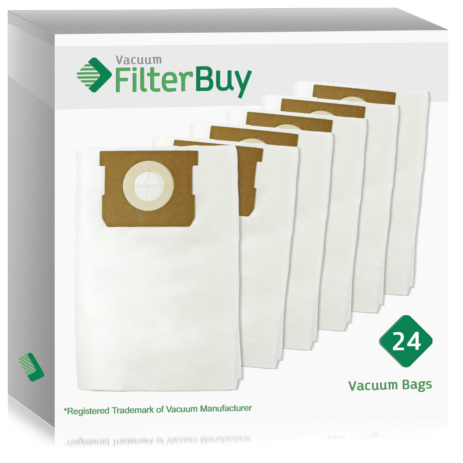24 - FilterBuy VacMaster Compatible Dust Bags. Designed by FilterBuy to fit VacMaster & Shop-Vac Vacuum Cleaners.