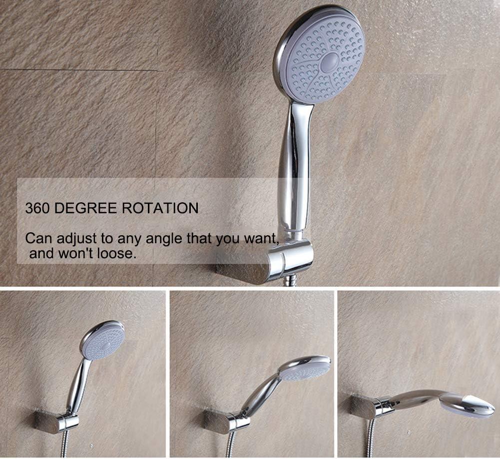 28mm Soporte de ducha,Cuutiik Soporte para ducha Reemplazo de Bar de la Diapositiva Ajustable 360/° Cromo,Di/ámetro interno mm