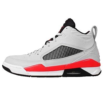 5d0636e4351 Nike Shoes - Jordan Flight 9.5 Pure Silver Red Infrared Black 46   Amazon.co.uk  Shoes   Bags