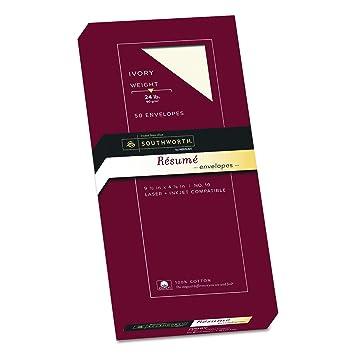 amazon com southworth exceptional resume envelopes 100 cotton