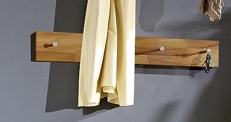 Quick-Step perchero con 4 botones en madera de haya maciza ...