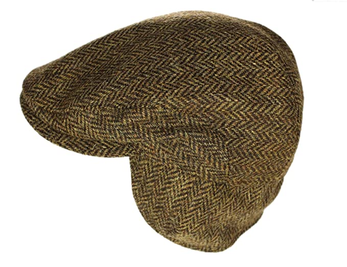 1920s Mens Hats & Caps | Gatsby, Peaky Blinders, Gangster John Hanly Men's Irish Flat Cap 100% Wool Tweed Ear Flap Made in Ireland $69.95 AT vintagedancer.com