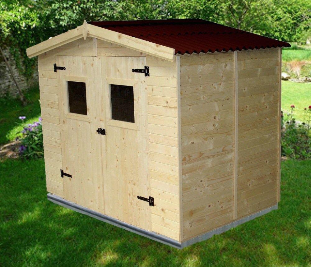 amazing habrita habrita abri en panneaux de bois m amazonfr jardin with plaque toiture bricoman. Black Bedroom Furniture Sets. Home Design Ideas