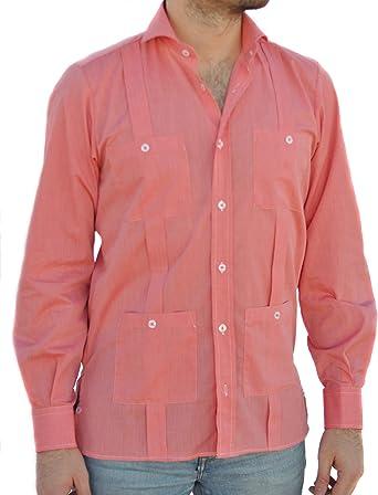 Camisa Guayabera Caballero Coral (M): Amazon.es: Ropa y accesorios