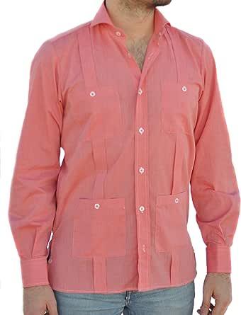 Camisa Guayabera Caballero Coral (M): Amazon.es: Ropa