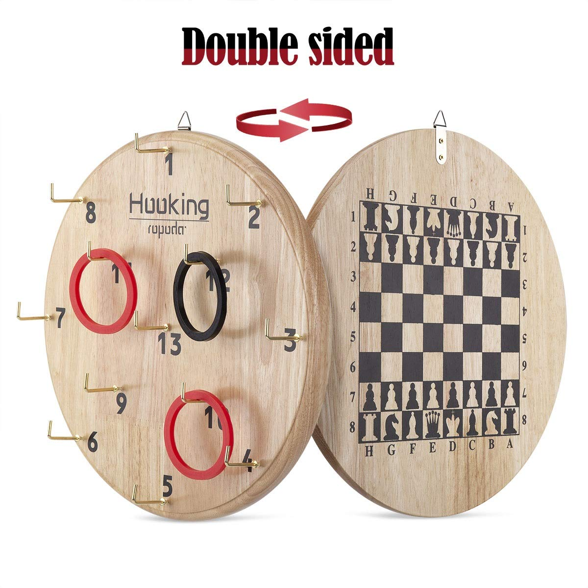 ROPODA Ultimate Hook & Ring Toss Game for Kids & Adults - Fun Ring Tossing Game Set, Safe & Durable Design, Easy to Install and Perfect for Children's Parties, a Man Cave, Home or Office