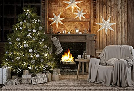 Country Christmas Background.Amazon Com Csfoto 7x5ft Background For Rustic Christmas