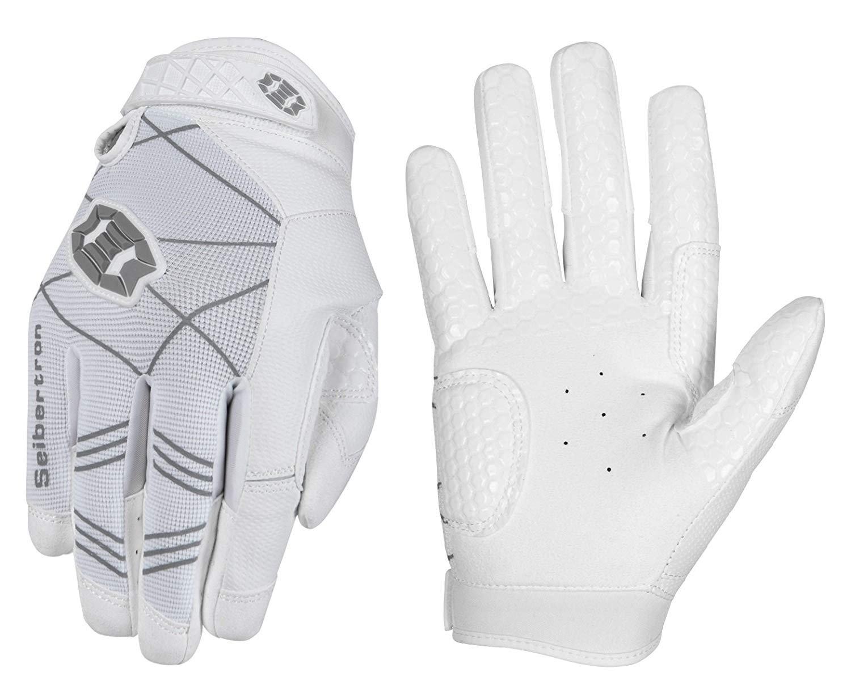 Seibertron B-A-R PRO 2.0 Signature Baseball/Softball Batting Gloves Super Grip Finger Fit for Adult White XS