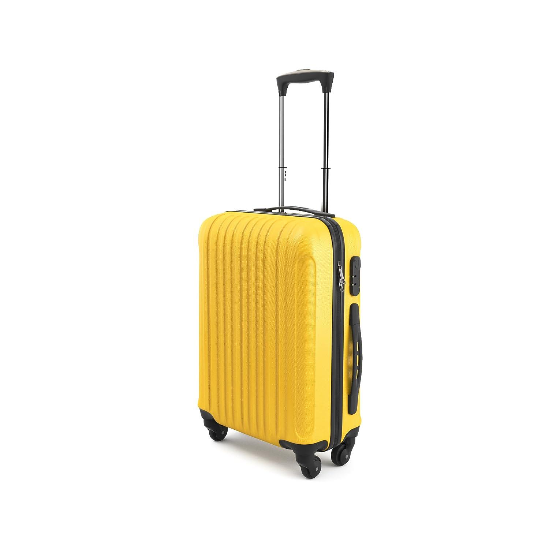 Eglemtek Leichtes ABS Hard Shell 4 R/äder Handgep/äck Trolley Koffer Gep/äck Gep/äck Koffer Reise Gep/äck Gep/äck Jet2 und viel mehr genehmigt f/ür Ryanair Easyjet rosa Lufthansa