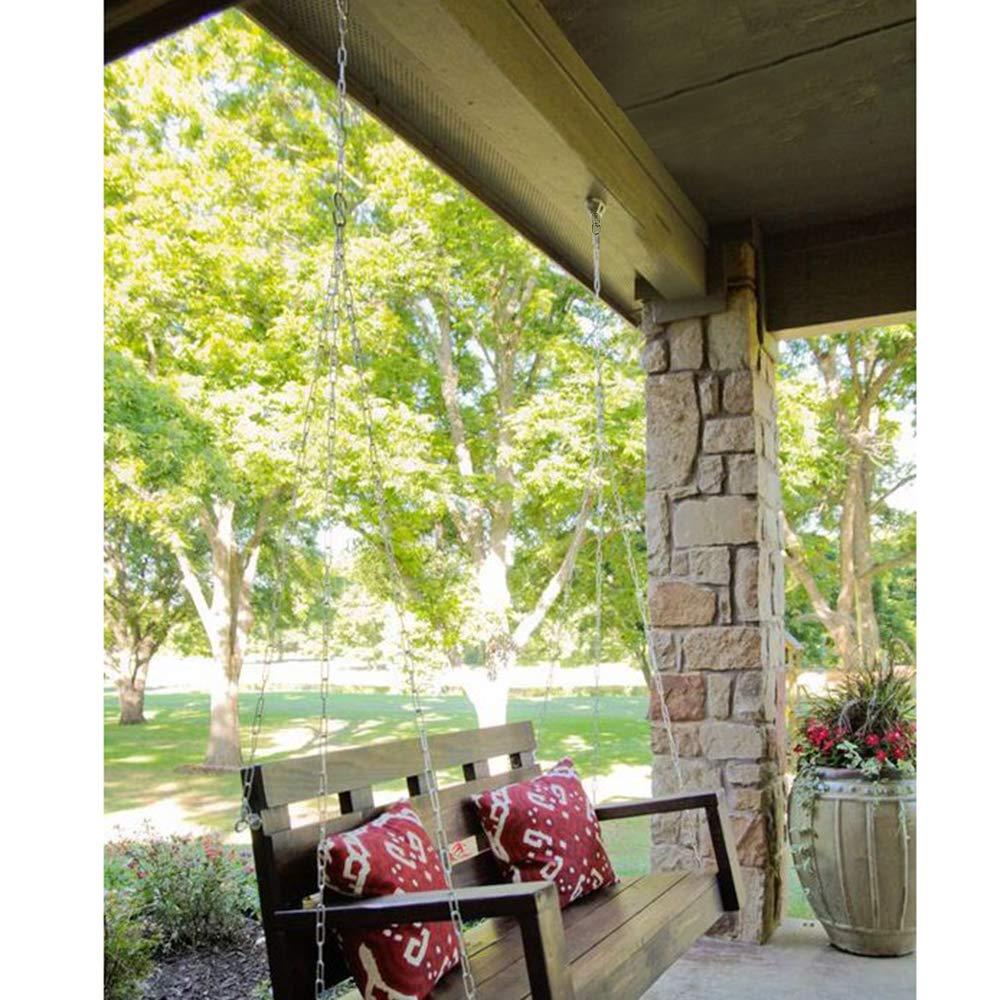 Chihee Kit di Sospensione Amaca Sedia Infissi 200 kg Ganci Girevoli con Catena 1 m//3,28 ft Fibbia Girevole Saccone da Pugilato Pilates Sospeso Resistente Interno Esterno