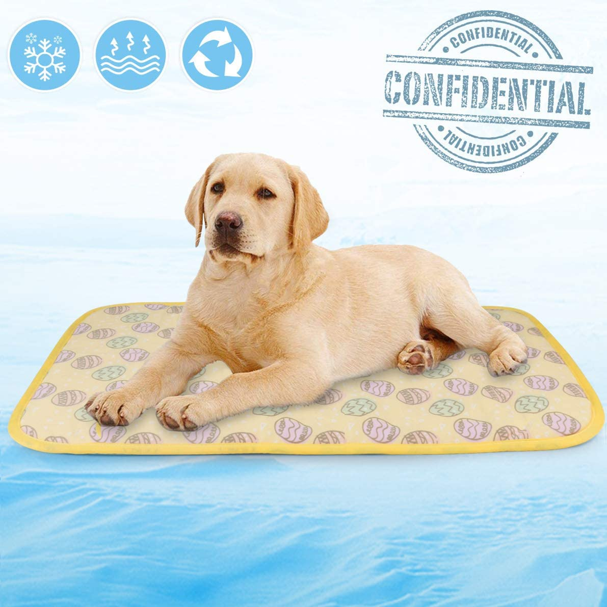 Idepet Dog Cooling Mat, Pet Cooling Pad Mat Keep Your Pet Cool Reduce Joint Pain Fit for Dog Cat Rabbit Hamster Self Cooling Mat