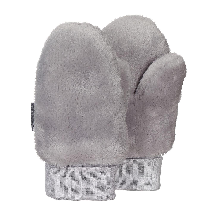 Sterntaler - Baby Jungen Fä ustlinge Handschuhe Plü sch, grau - 4301421
