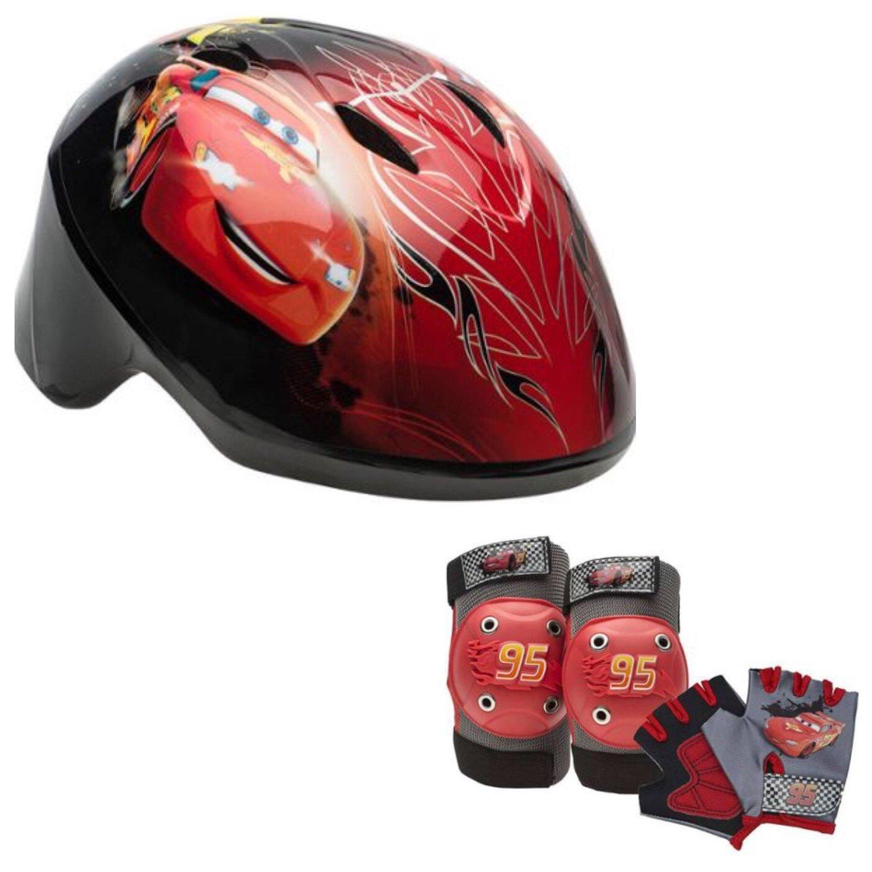 Disney Pixar Cars Toddler Kids Skate / Bike Helmet Pads & Gloves - 7 Piece Set by Disney