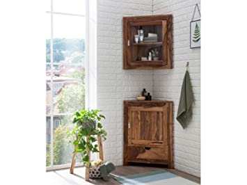 Woodkings® Lagos Hängeschrank Eckschrank Bad Holz Palisander ...