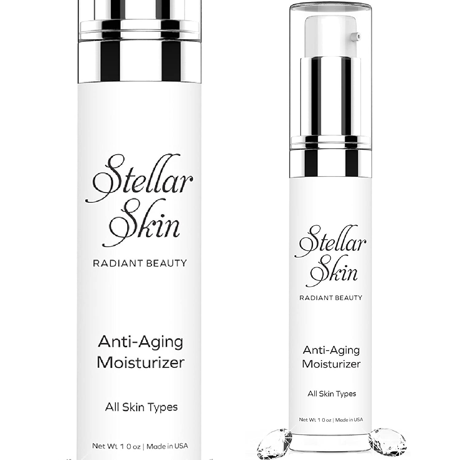 Stellar Skin Face Moisturizer - Anti Aging Cream 1 oz - Best to Boost Collagen and Reduce Fine Lines & Wrinkles, Contains Duo-Peptides, Skin Care That Works to Restore Youthful Glow …