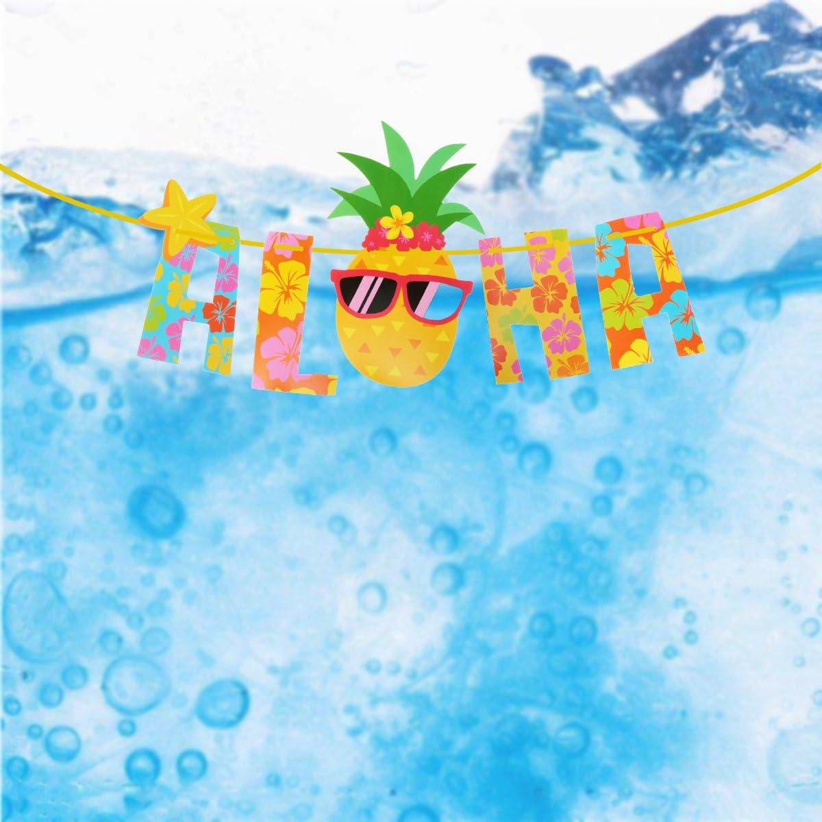 luoem Luau Party Banner Aloha Hawaii Mottoparty Dekoration Lieferungen Fotografie Unterst/ützung