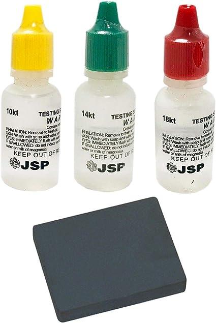 PRO 2x2\ Testing Stone JSP 10k//14k//18k Gold Test Acid Solutions Tester Kit Detect Metals Scrap Jewelry