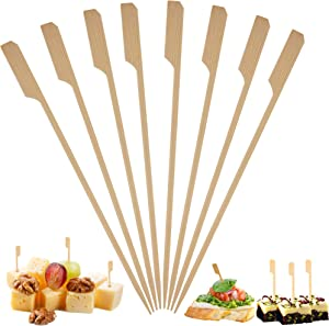 Bamboo Skewers Toothpicks for Appetizer Picks – (1000 Pack / 3.5 Inch) Eco Friendly Wooden Cocktail Skewers and Bamboo Toothpicks for Appetizers Food Garnish Sandwich Fruit Kabobs Drinks Cocktail