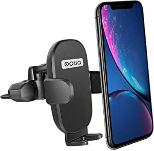 CD Slot Car Mount Phone Holder, Oqtiq CD Player Car Phone Holder with Durable Grips and One-Button Release Design Compatible with iPhone Samsung Galaxy LG