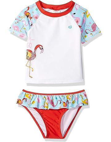f3161e97fa01a Skechers Girls' Little Swim Suit Set with Short Sleeve Rashguard