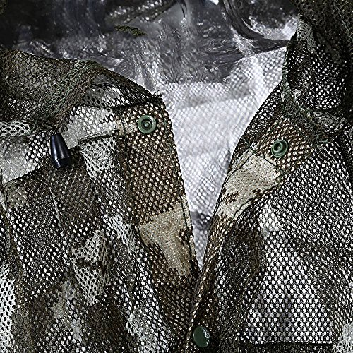 1 Set Outdoors Hunting Clothing Quick Dry Ultra Light Mesh Double Printed Camouflage Ghillie Leafy by The Single Mum (Image #3)