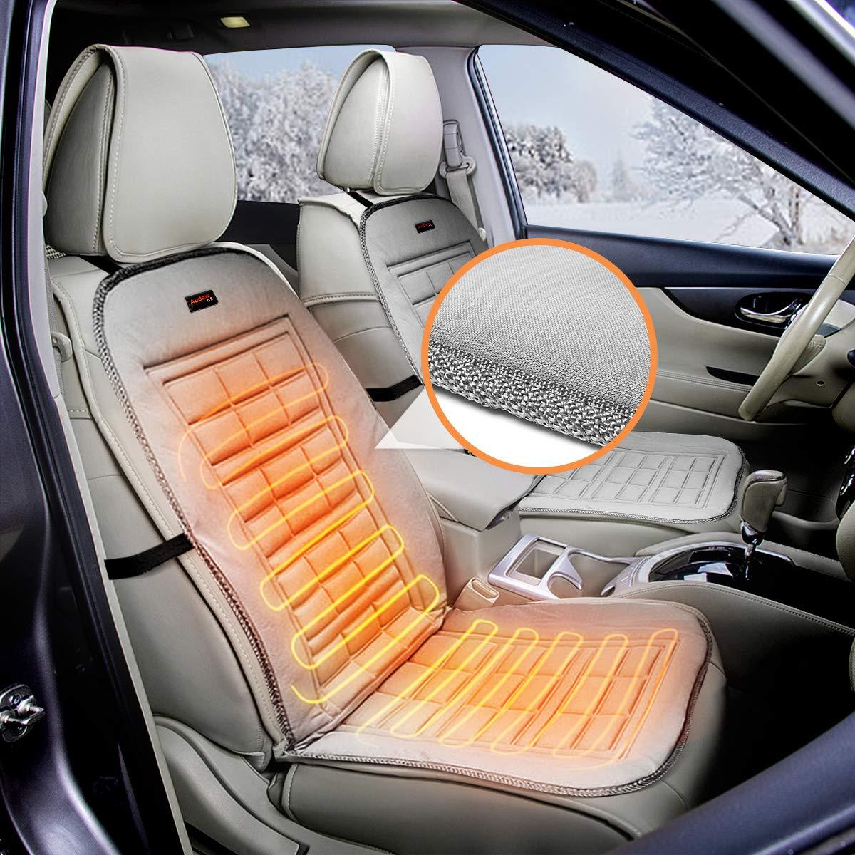 AUDEW Sedile anteriore 12 V riscaldato e imbottito per auto