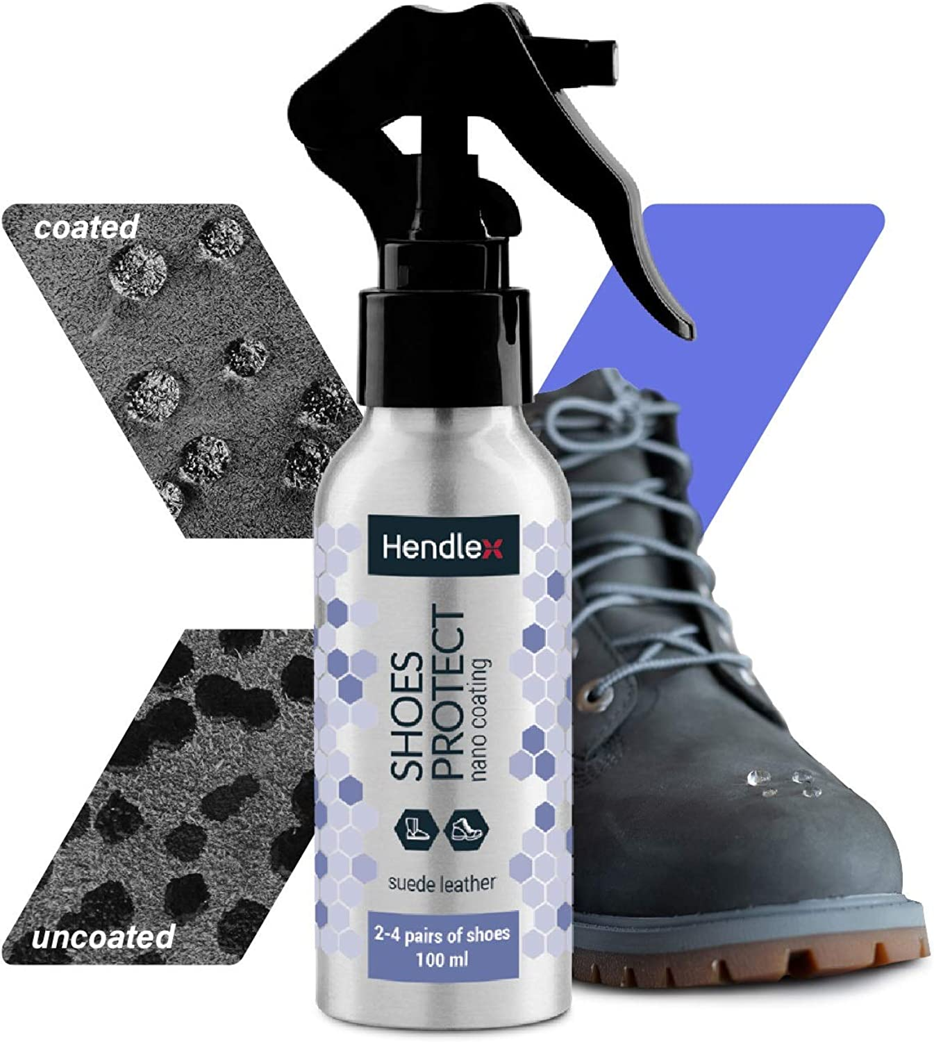 Hendlex Nano Suede Protector Spray for Shoes Waterproof 3.38 oz Nubuck Shoes, Sneakers, Purses: Home & Kitchen