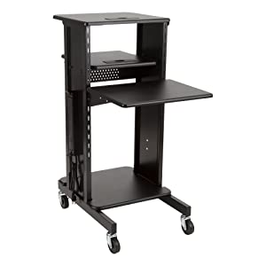 Norwood Commercial Furniture NOR-TY1000BK-SO Laptop Caddy Cart Presentation Station, black