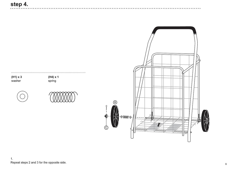 Honey can do CRT-01640 Chariot Multi-Usage /à roulettes Doubles 61 x 54,9 x 99,1 cm M/étal Argent
