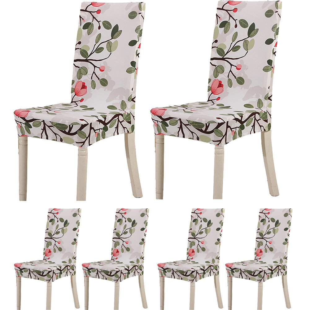 Teerfu, Fodera per sedia, 6 pezzi,protezione elasticizzata rimovibile, in spandex, fodera per sedie ultra aderente, ideale per hotel e cerimonie nuziali, lavabile Color 9 UK101-192N6-6Pack-C9