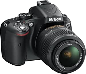 "Nikon D5100 - Cámara réflex digital de 16.2 Mp (pantalla articulada 3"", estabilizador óptico, vídeo Full HD), color negro - kit con objetivo AF-S DX 18-55mm VR f/3.5 [importado]"