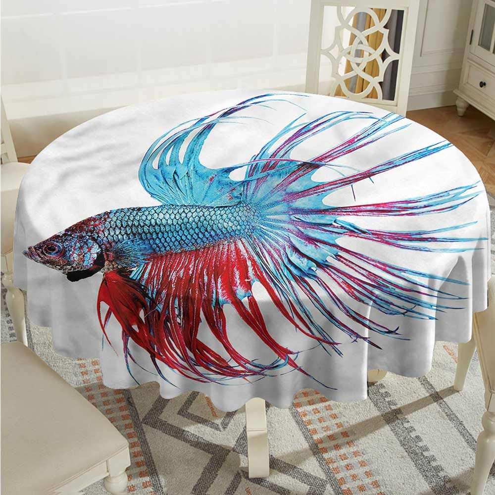 color01 D36 INCHTim1Beve Aquarium Fashions Table Cloth Tropic Fishes Coral Reef Highend Durable Creative Home D54 INCH