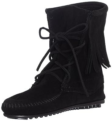 Minnetonka Damen Tramper Boot Mokassin Stiefel, Schwarz (Black 9), 36 EU 8958f80fb5