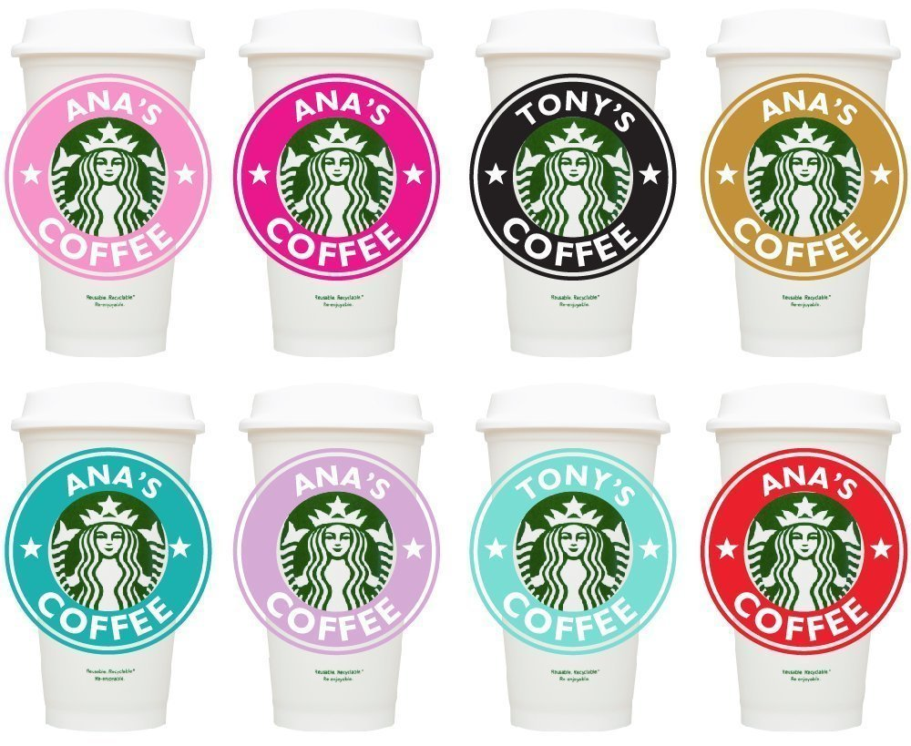 Bridesmaid Gifts 10 Personalized Starbucks tumblers