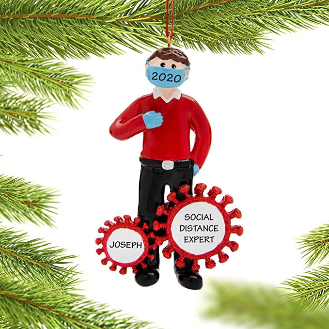 EKMON Survived Family Ornament Xmas Tree Ornaments 2020 Christmas Ornament Holiday Decorations Survived Family Christmas Hanging Ornaments for Christmas Tree Home Decor Xmas Gifts-Family of 2