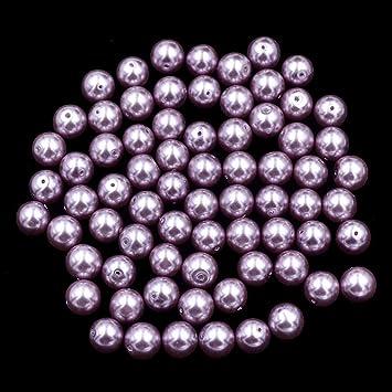 Acrylic Round Beads 8mm Dark Blue//Pale Blue 100 Pcs Pearlised Art Hobby Crafts